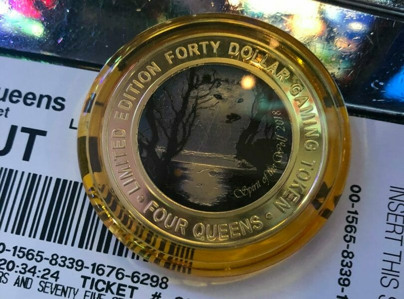 Silver Strike $40 Four Queens token