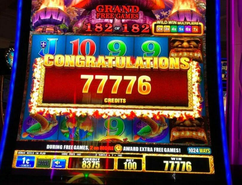 The Great Tiki $777 bonus at Treasure Island