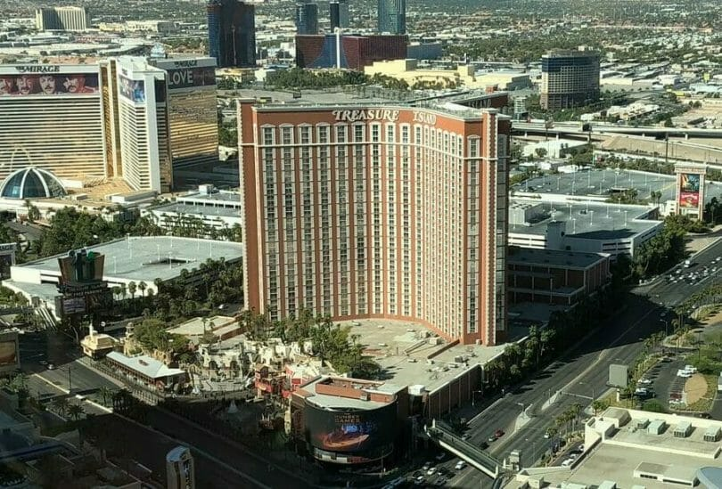 Treasure Island Las Vegas from the Wynn