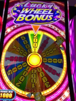 Dream Cash by Aruze Lucky Wheel Bonus outcome