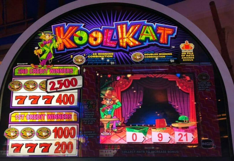 Kool Kat by IGT piles of hats