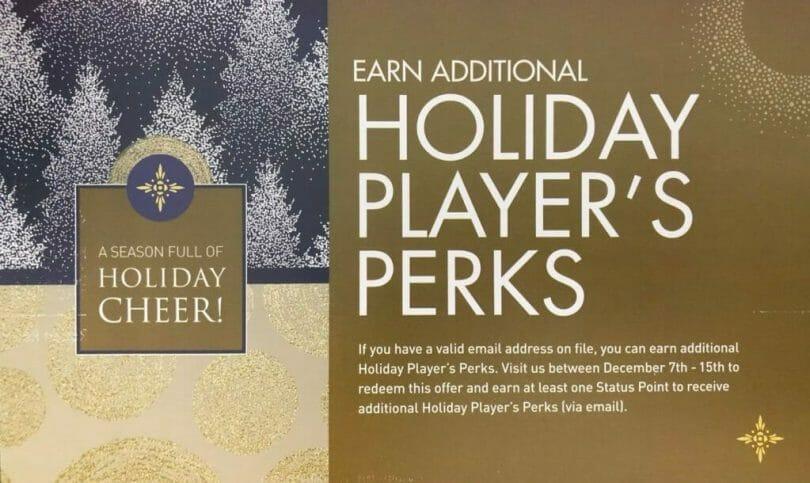 Mohegan Sun additional holiday players perks