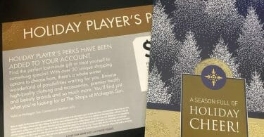 Mohegan Sun holiday players perks