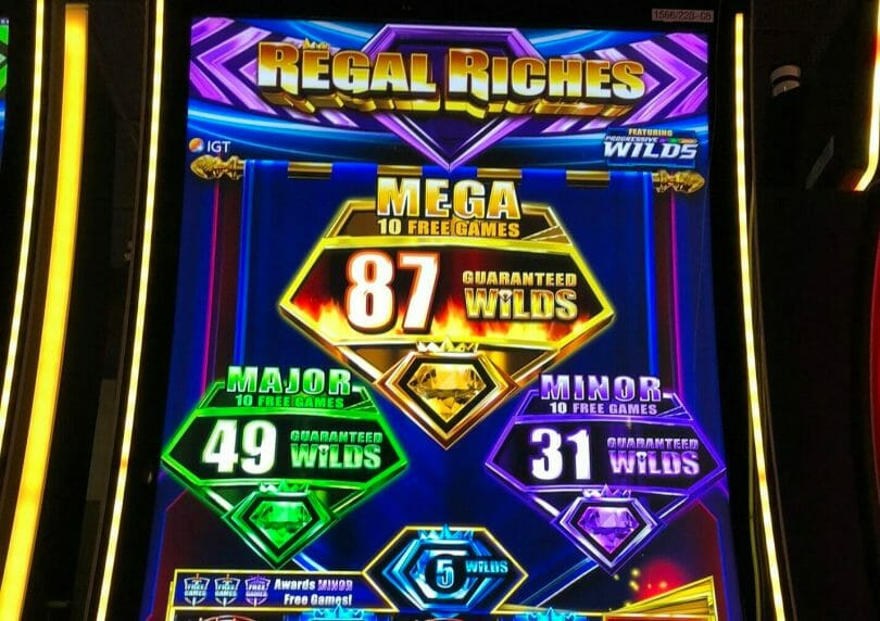 Regal Riches by IGT top box