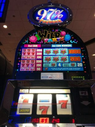 Wild Party $150 win 97 percent payback