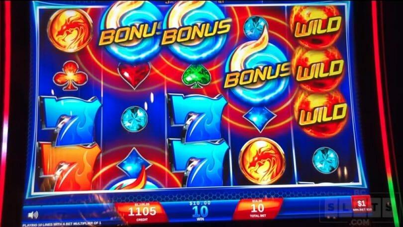 Wild Fury by IGT bonus trigger