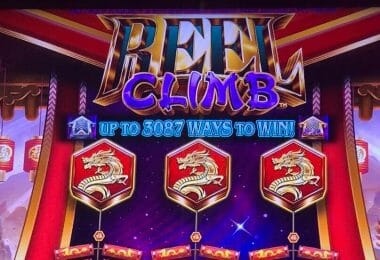 Reel Climb Prosperity by Aristocrat top of the screen