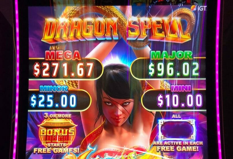 Dragon Spell by IGT top box