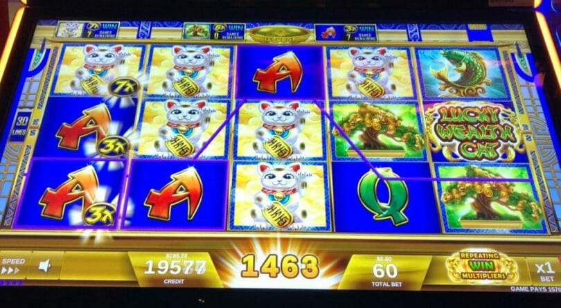 Lucky Wealth Cat by IGT big line hit