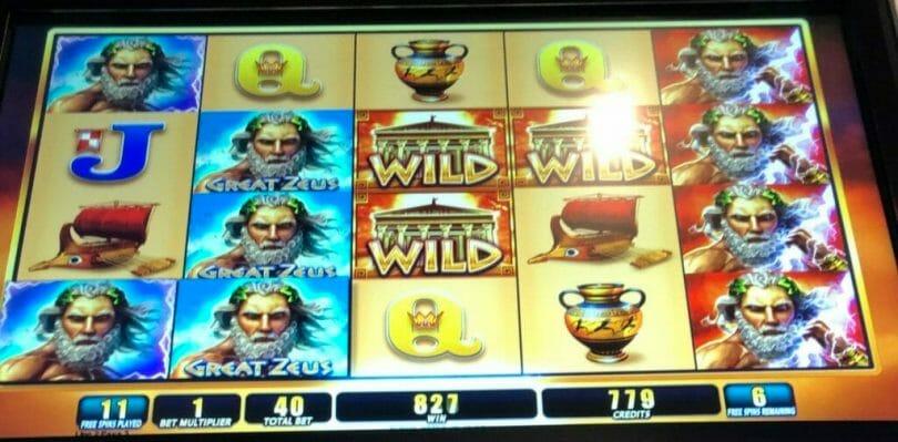 Great Zeus five of a kind in the bonus