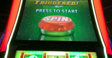 7-Up by Aristocrat wheel spin triggered