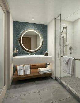 Atrium Tower Bathroom Rendering