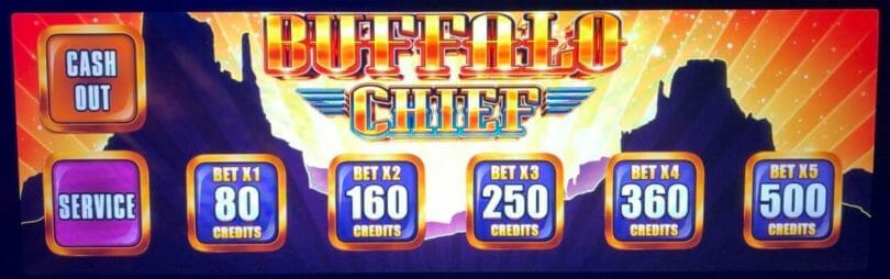 Buffalo Chief by Aristocrat bet panel