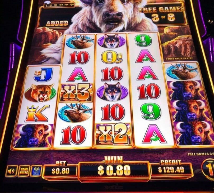 Buffalo Chief by Aristocrat x6 bonus win