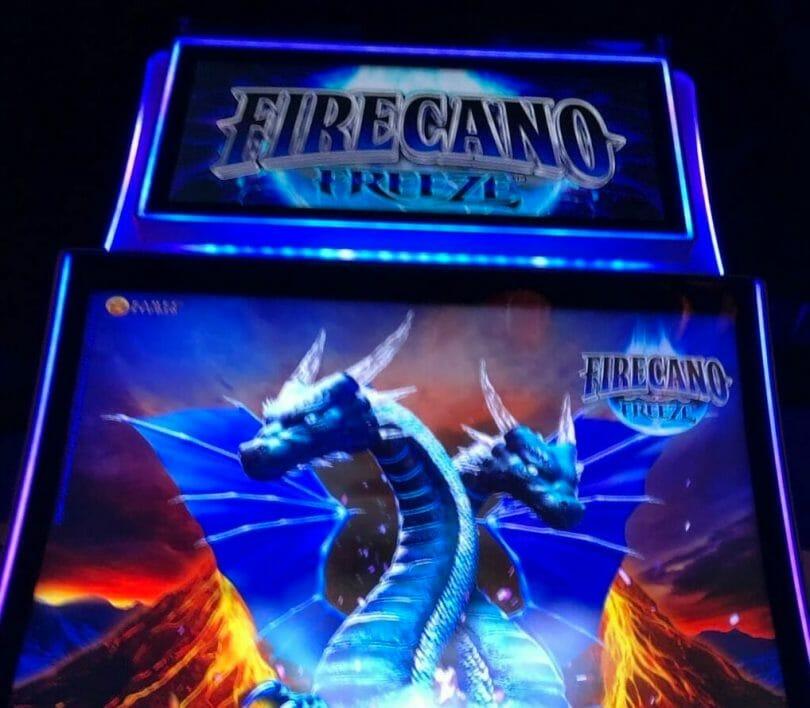 Firecano Freeze by Aristocrat top screen