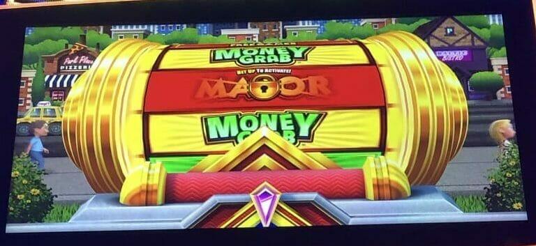 Monopoly Money Grab by Scientific Games Bonus Wheel top box