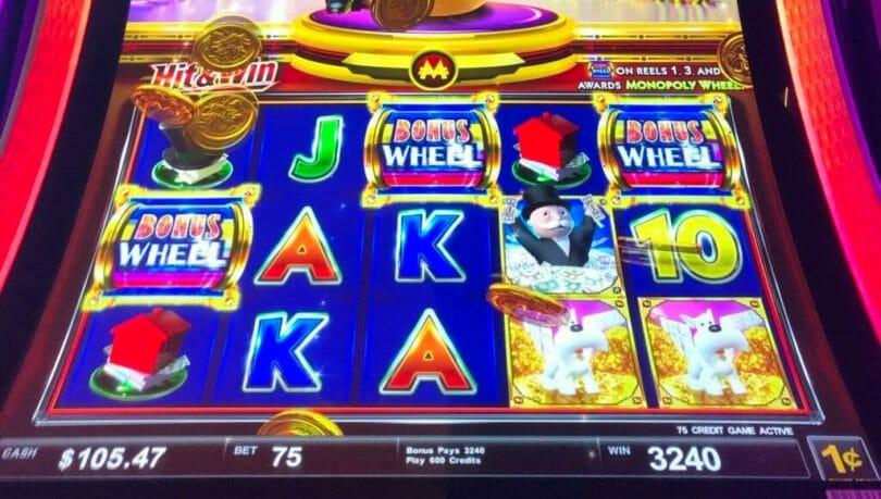 Monopoly Money Grab by Scientific Games Bonus Wheel trigger