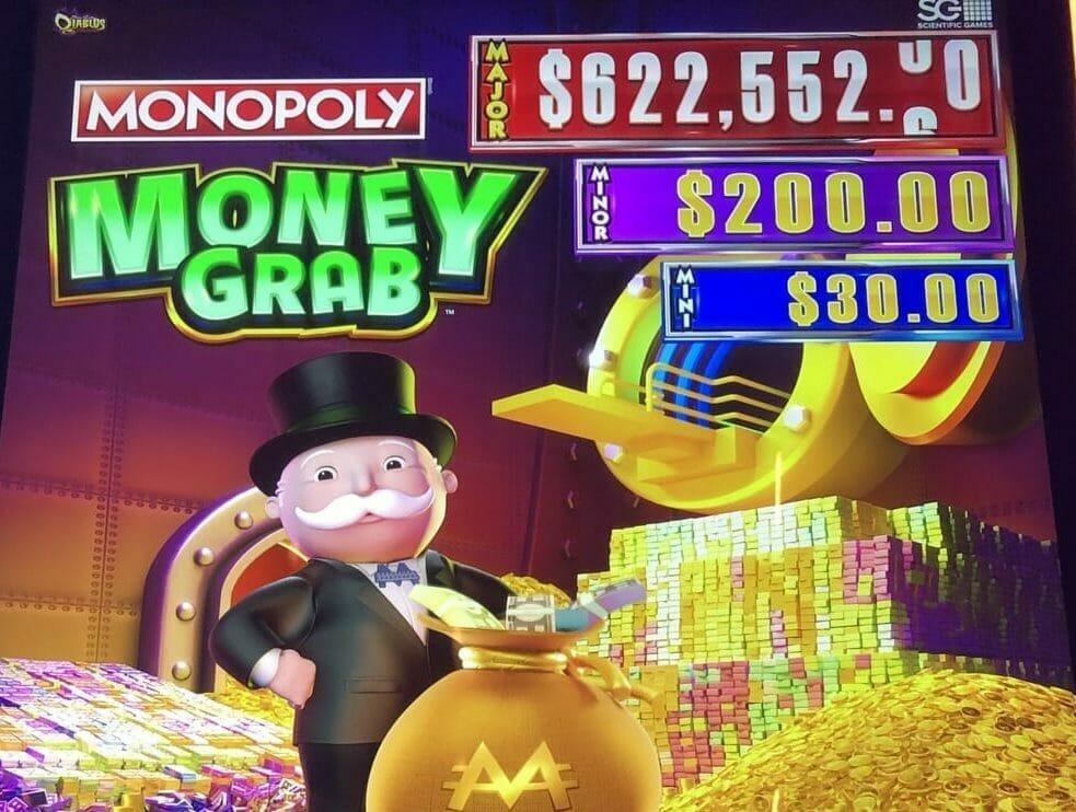 Monopoly Money Grab by Scientific Games top box