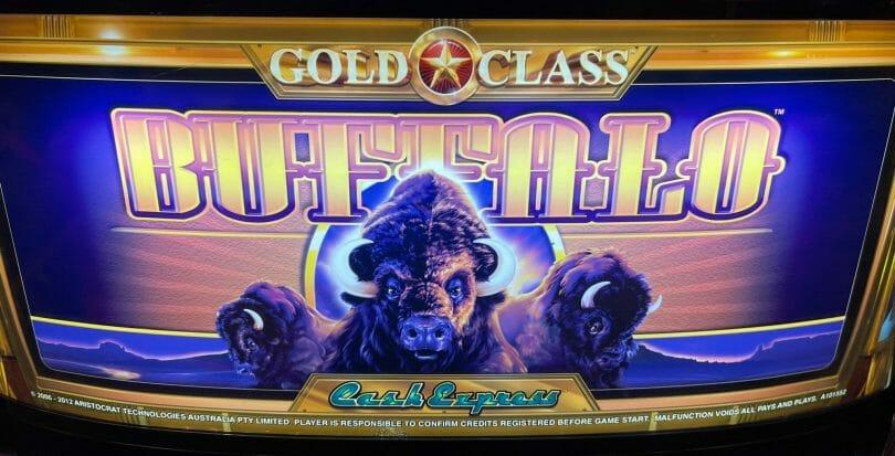 Cash Express Gold Class Buffalo by Aristocrat logo