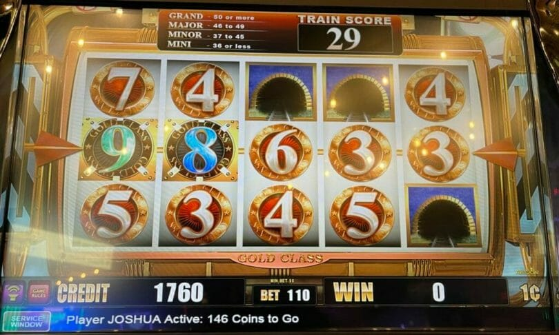 Cash Express Gold Class Buffalo by Aristocrat mini jackpot