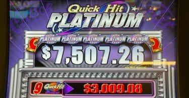 Quick Hit Platinum by Bally top jackpot