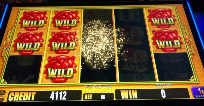 5 Coin Frenzy Jackpots by Aristocrat frenzy mode random wilds awarded