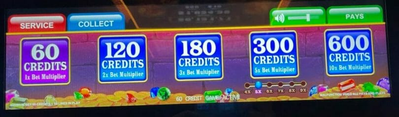 Big Money Burst bet panel