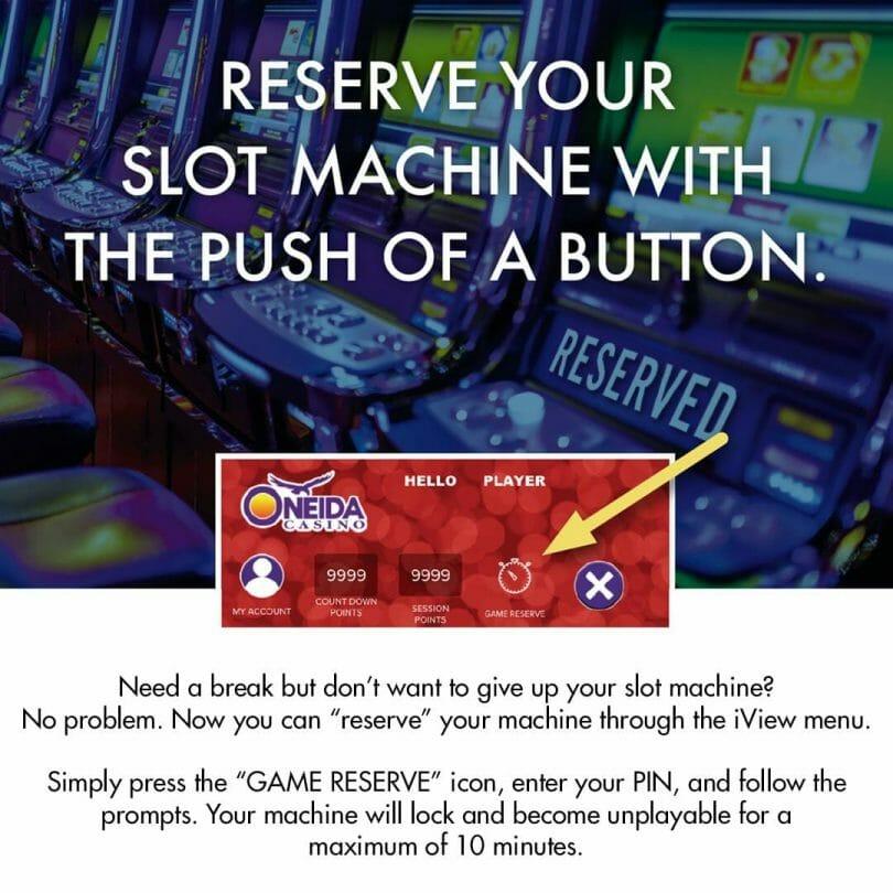 Oneida Casino lock machine
