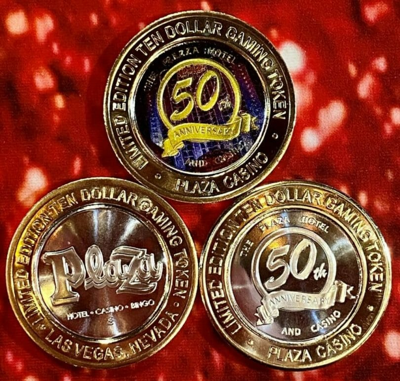 Plaza Las Vegas 50th Anniversary Silver Strike collectibles