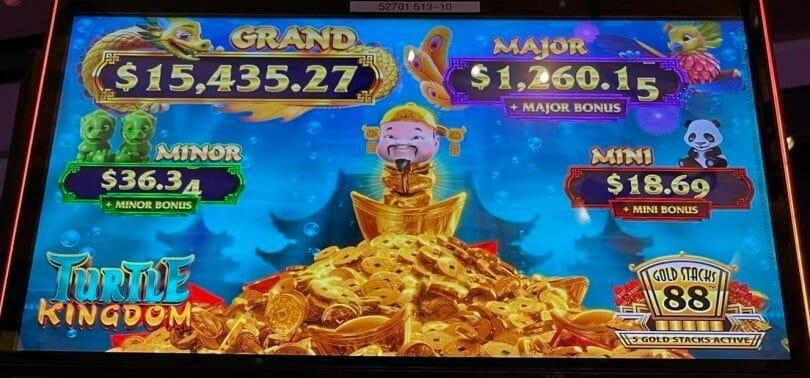 Gold Stacks 88 Turtle Kingdom by Aristocrat progressives