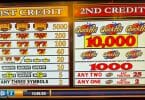 Quick Hit Double Jackpot by Bally pay table