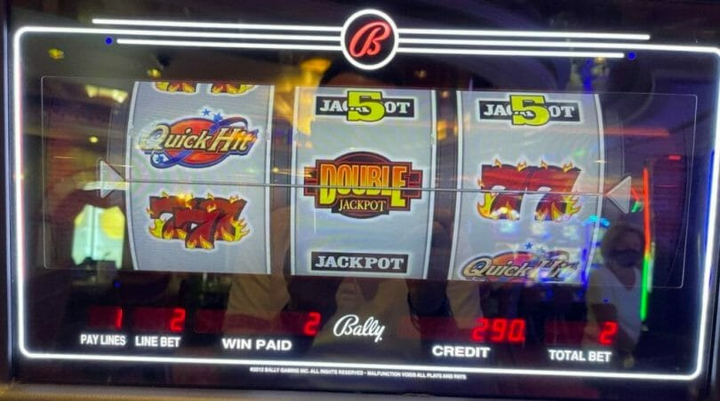 Quick Hit Double Jackpot by Bally single Quick Hit