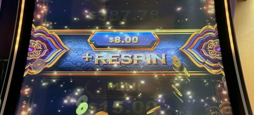 Lucky Ox by IGT jackpot wheel credit prize respin