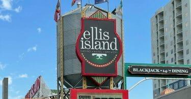 Ellis Island exterior sign
